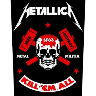 METALLICA Metal Militia, バックパッチ