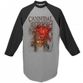 CANNIBAL CORPSE Impact Spatter, ラグラン七分袖シャツ