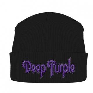 DEEP PURPLE Logo Blk, ニットキャップ