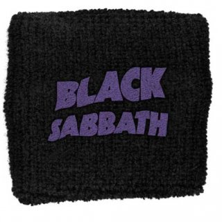 BLACK SABBATH Purple Wavy Logo, リストバンド