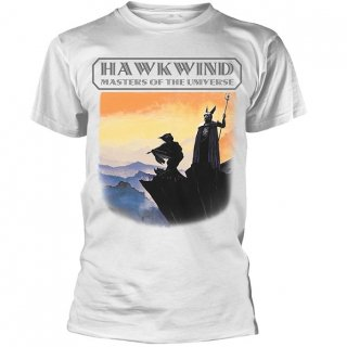 HAWKWIND Masters Of The Universe (White), Tシャツ