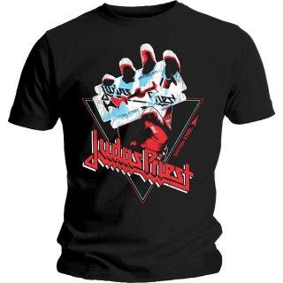 JUDAS PRIEST British Steel Hand Triangle, Tシャツ