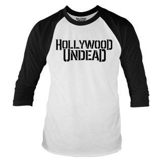 HOLLYWOOD UNDEAD Logo, ラグラン七分袖シャツ