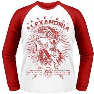ASKING ALEXANDRIA Snake, ラグランロングTシャツ