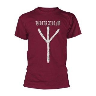 BURZUM Rune (maroon), Tシャツ