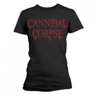 CANNIBAL CORPSE Dripping Logo, レディースTシャツ