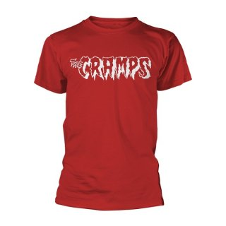 THE CRAMPS Logo - White (red), Tシャツ