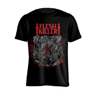 FLESHKILLER Red Logo, Tシャツ