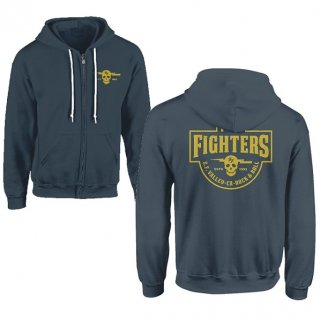 FOO FIGHTERS Insignia Logo (light Blue), Zip-Upパーカー