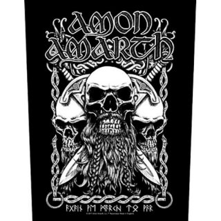AMON AMARTH Bearded Skull, バックパッチ
