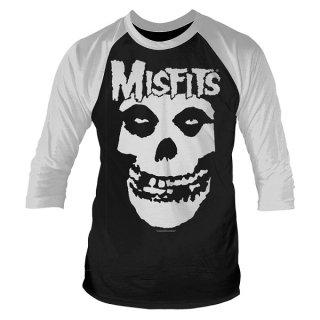 MISFITS Skull, ラグラン七分袖シャツ