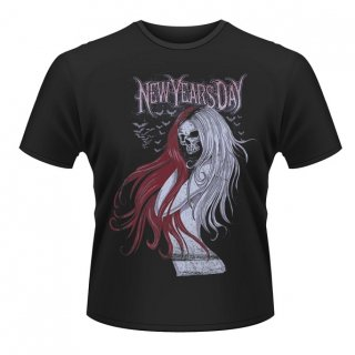 NEW YEAR'S DAY Long Hair Skull, Tシャツ