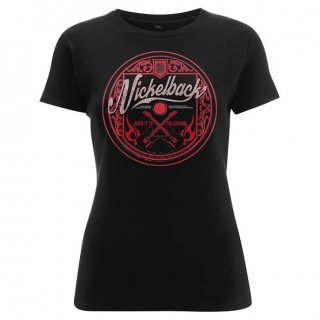 NICKELBACK Pink Logo Circle, レディースTシャツ