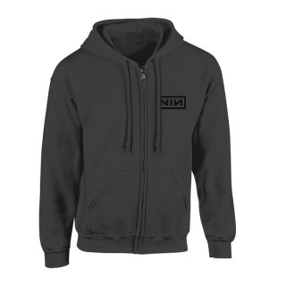 NINE INCH NAILS Classic Black Logo, Zip-Upパーカー