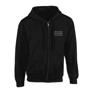 NINE INCH NAILS Classic Grey Logo, Zip-Upパーカー