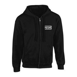 NINE INCH NAILS Classic White Logo, Zip-Upパーカー