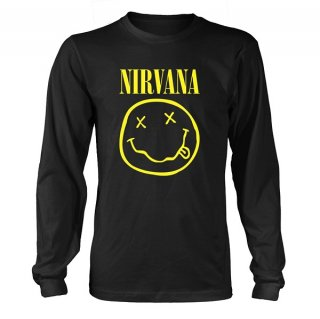 NIRVANA Smiley Logo, ロングTシャツ