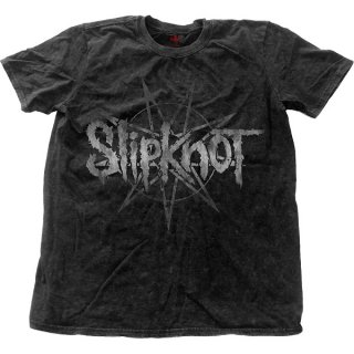 SLIPKNOT Logo Star With Snow Wash Finishing, Tシャツ