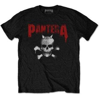 PANTERA Horned Skull Stencil, Tシャツ
