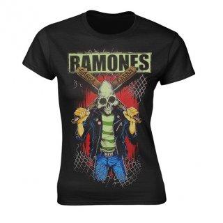 RAMONES Gabba Gabba Hey Pinhead, レディースTシャツ