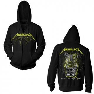 METALLICA Splatter Lightning, Zip-Upパーカー