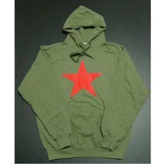 RAGE AGAINST THE MACHINE Red Star Olive Green, パーカー