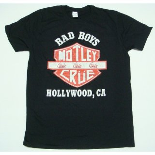 MOTLEY CRUE Bad Boys Shield, Tシャツ