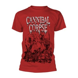 CANNIBAL CORPSE Pile Of Skulls 2018 (red), Tシャツ