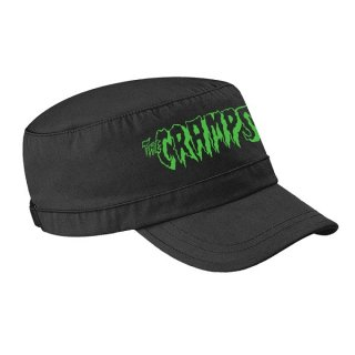 THE CRAMPS Green Logo, キャップ