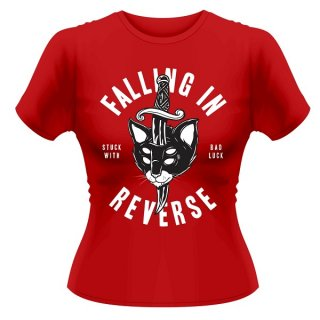 FALLING IN REVERSE Dagger Cat, レディースTシャツ