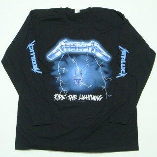 METALLICA Ride The Lightning Black, ロングTシャツ