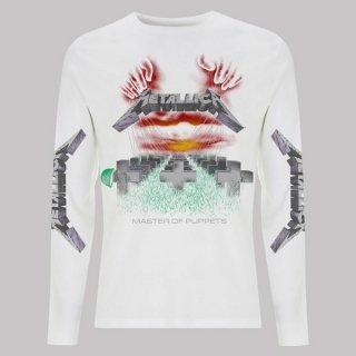 METALLICA Mop White, ロングTシャツ