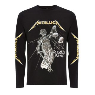 METALLICA And Justice For All Black, ロングTシャツ