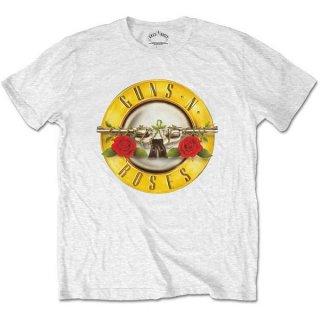 GUNS N' ROSES Classic Logo Wht, Tシャツ