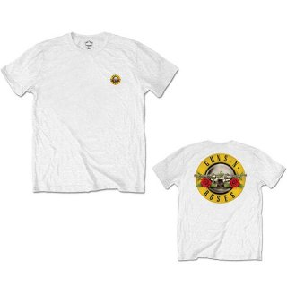 GUNS N' ROSES Classic Logo 2 Wht, Tシャツ