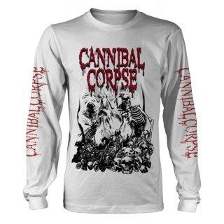 CANNIBAL CORPSE Pile Of Skulls 2018 Wht, ロングTシャツ