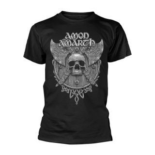 AMON AMARTH Grey Skull, Tシャツ