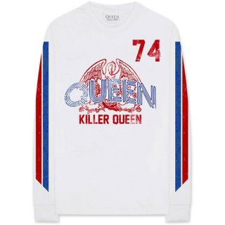 QUEEN Killer Queen '74 Stripes, ロングTシャツ