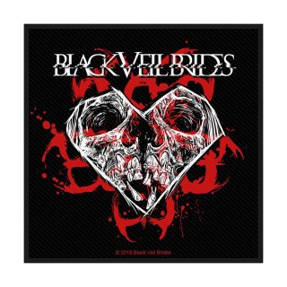 BLACK VEIL BRIDES Skull & Heart, パッチ<img class='new_mark_img2' src='https://img.shop-pro.jp/img/new/icons5.gif' style='border:none;display:inline;margin:0px;padding:0px;width:auto;' />