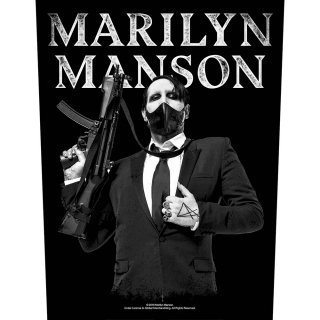 MARILYN MANSON Machine Gun, バックパッチ<img class='new_mark_img2' src='https://img.shop-pro.jp/img/new/icons5.gif' style='border:none;display:inline;margin:0px;padding:0px;width:auto;' />