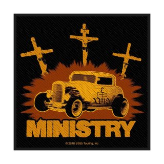MINISTRY Jesus Built My Hotrod, パッチ<img class='new_mark_img2' src='https://img.shop-pro.jp/img/new/icons5.gif' style='border:none;display:inline;margin:0px;padding:0px;width:auto;' />