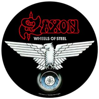 SAXON Wheels of Steel, バックパッチ<img class='new_mark_img2' src='https://img.shop-pro.jp/img/new/icons5.gif' style='border:none;display:inline;margin:0px;padding:0px;width:auto;' />