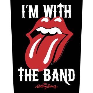 THE ROLLING STONES I'm with the Band, バックパッチ<img class='new_mark_img2' src='https://img.shop-pro.jp/img/new/icons5.gif' style='border:none;display:inline;margin:0px;padding:0px;width:auto;' />