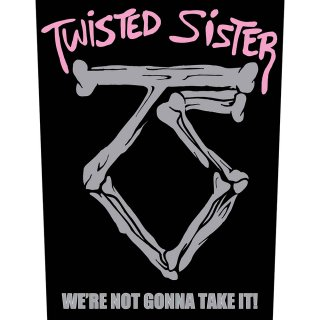 TWISTED SISTER Sister we're not gonna take it!, バックパッチ<img class='new_mark_img2' src='https://img.shop-pro.jp/img/new/icons5.gif' style='border:none;display:inline;margin:0px;padding:0px;width:auto;' />