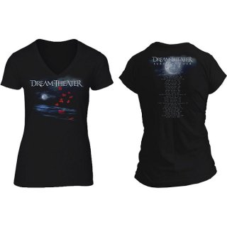 DREAM THEATRE Rose Petals Moon, レディースTシャツ