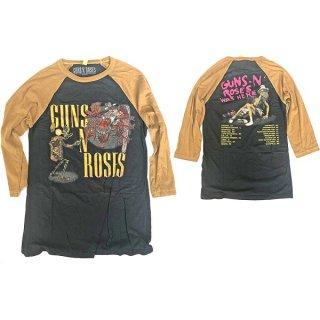 GUNS N' ROSES Appetite Attack, ラグラン七分袖シャツ