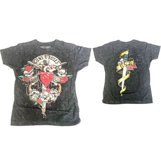 GUNS N' ROSES Bleeding Heart Distressed, Tシャツ
