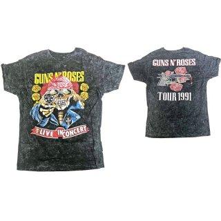 GUNS N' ROSES Bootleg Skull Distressed, Tシャツ