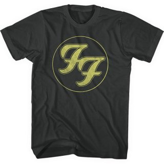 FOO FIGHTERS Gold Ff Logo, Tシャツ