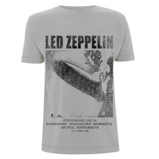 LED ZEPPELIN Uk Tour 1969 Lz1 Ice Grey, Tシャツ